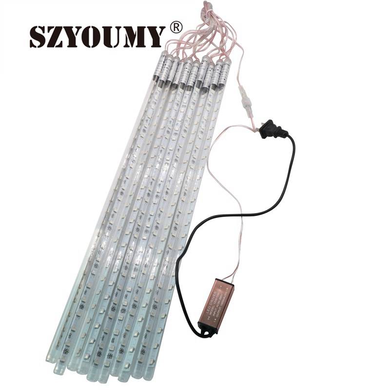 SZYOUMY 5050 50CM 80CM Meteor Tube Meteor Shower Rain String LED Christmas Light Wedding Party Garden Xmas String Light Outdoor