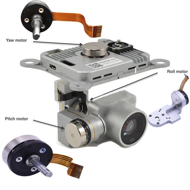 Genuine DJI Phantom 3 Pro/Adv Part – Gimbal Camera Pitch/Roll/Yaw/Motor Arm Bracket Repair Part for P3 Professional Advanced