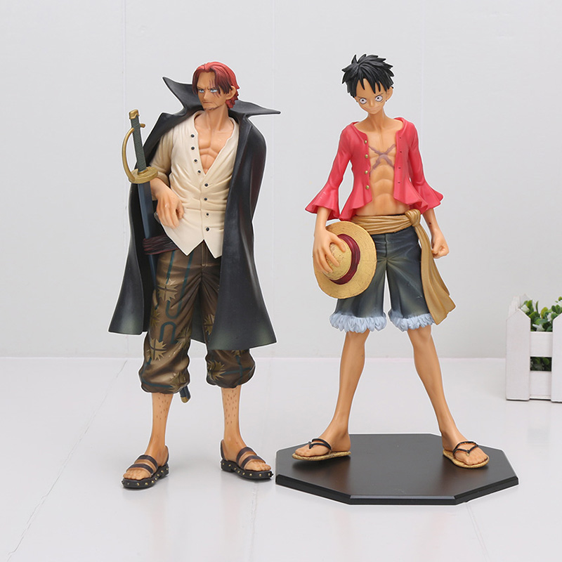 25cm One Piece 2 years later Monkey D Luffy shanks figure action toys One Piece figure 25cm one piece 2 years later monkey d luffy shanks figure action toys one piece figure