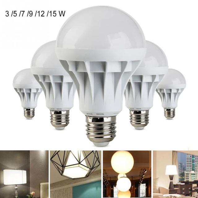 Light Bulb E27 220V SMD LED light Bulbs Plastic Led Bulb Lamp High ...