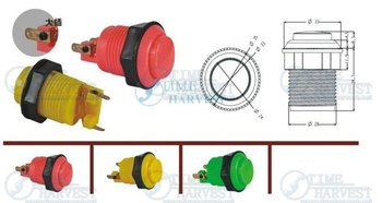 200 Psc push button four color available arcade game machine parts for coin operated game machine