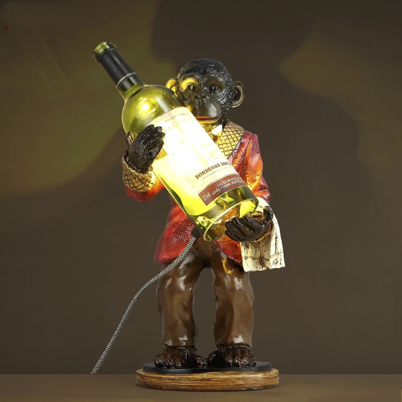 Monkey Table Lamps: Creative Gorilla Table Lamp Personality Design Bar Retro Resin Desk Lamp  40cm*20cm Monkey Art,Lighting
