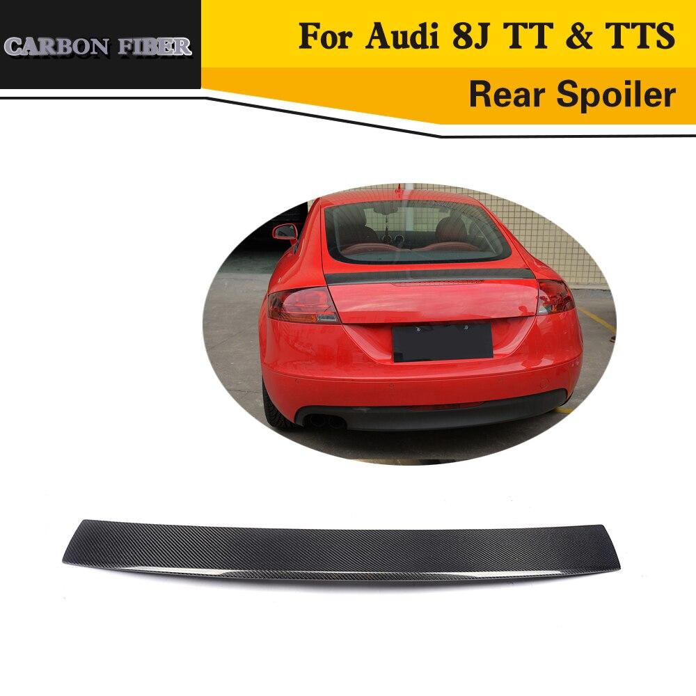 Car Styling Carbon Racing Car Trunk Zadní křídlo Rative Spoiler ret pro Audi 8J TT & TTS 2008-2014