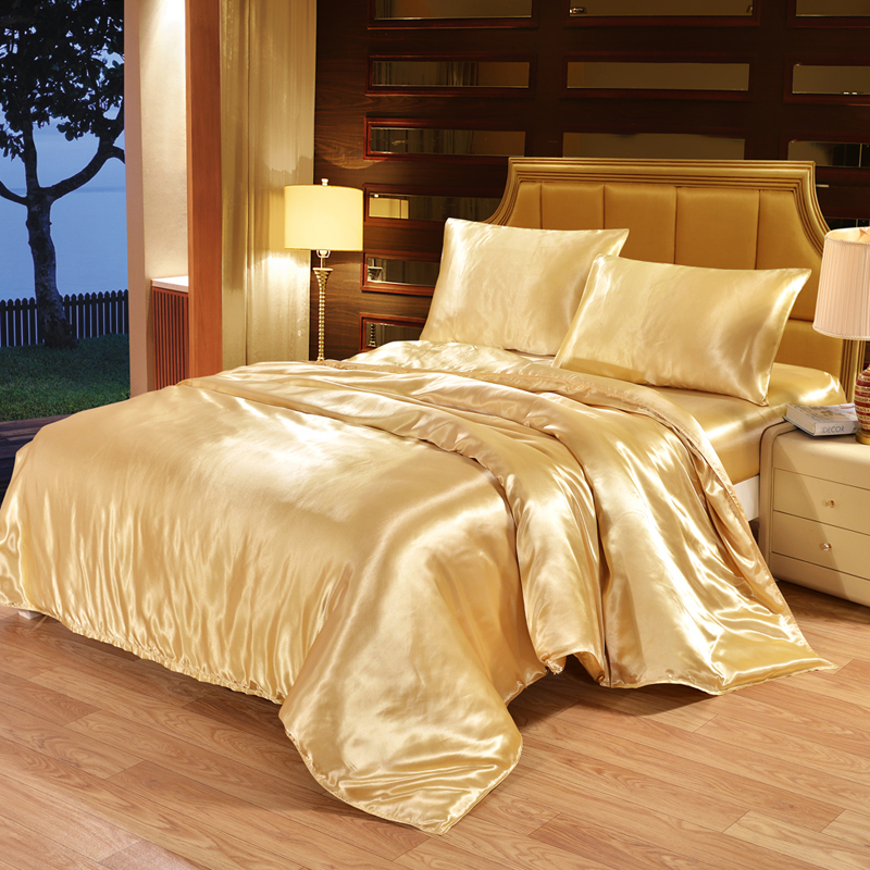 EHOMEBUY Duvet Cover Qualified 1 Piece Quilt Cover Solid Color Light Tan Zipper European And American Style Home Hotel Bed