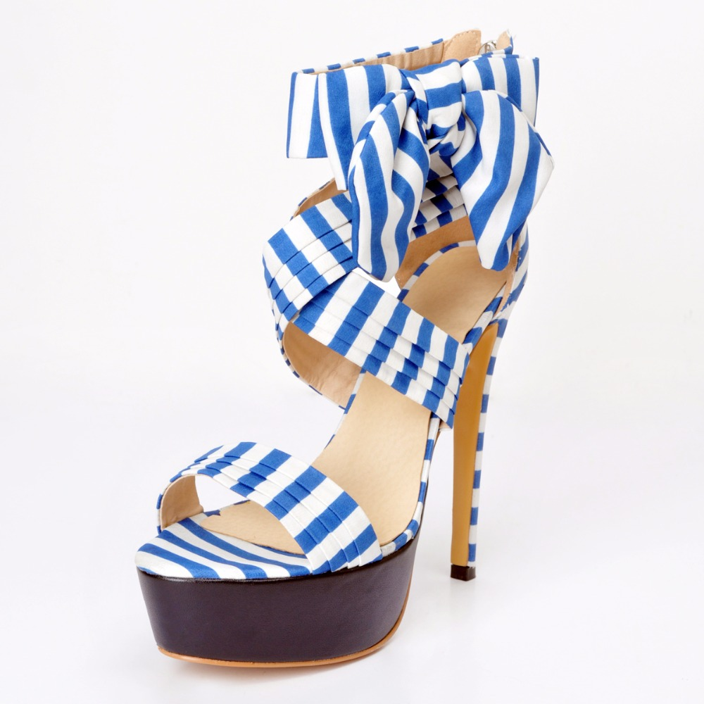 Womens sandals size 13 - 2017 New Women Summer Shoes Ankle Wrap Heels Us Size 13 High Heels Bow Sandals The
