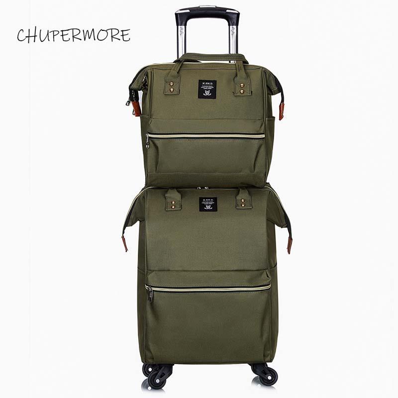 Chupermore Ultralight Oxford Rolling Bagage Set Spinner Vrouwen Merk Koffer Wielen 20 inch Carry Op Trolley-in Koffers van Bagage & Tassen op  Groep 3
