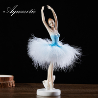 Aqumotic Ballet Decorations for Girls Room Decor Birthday Present New Year Children's Day for Daughter Feather Skirt Polished