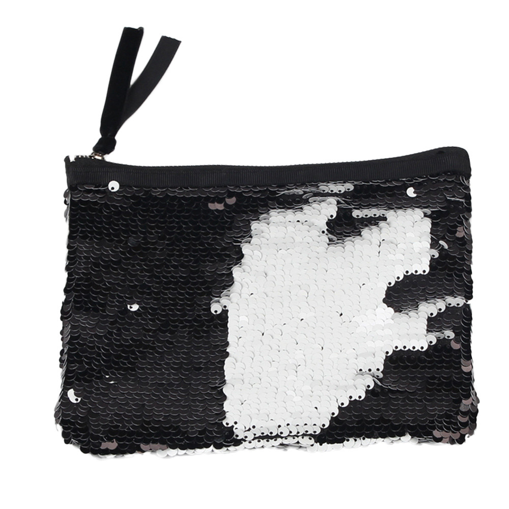2018 New Fashion Coin Purse Coin Wallet Small Pouch Small Purse Women Double Color Sequins Wallet Girls Wallet Purse