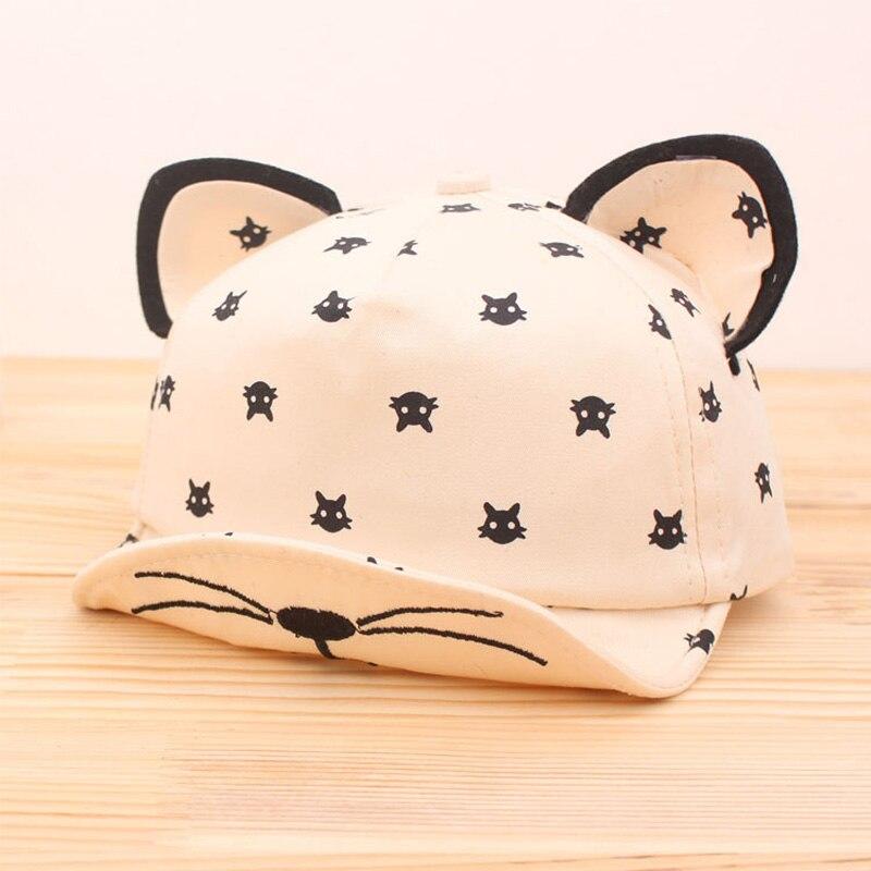 Dreamshining bebé oídos sombrero barba historieta del gato de las estrellas  casquillo recién nacido niños sombrero de béisbol verano bebé niña Sombreros  ... 3318f9715a4