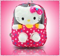 removable hello kitty kids children shoulder dot school bags Bolsas plush Backpack for girls Mochila The Knapsack