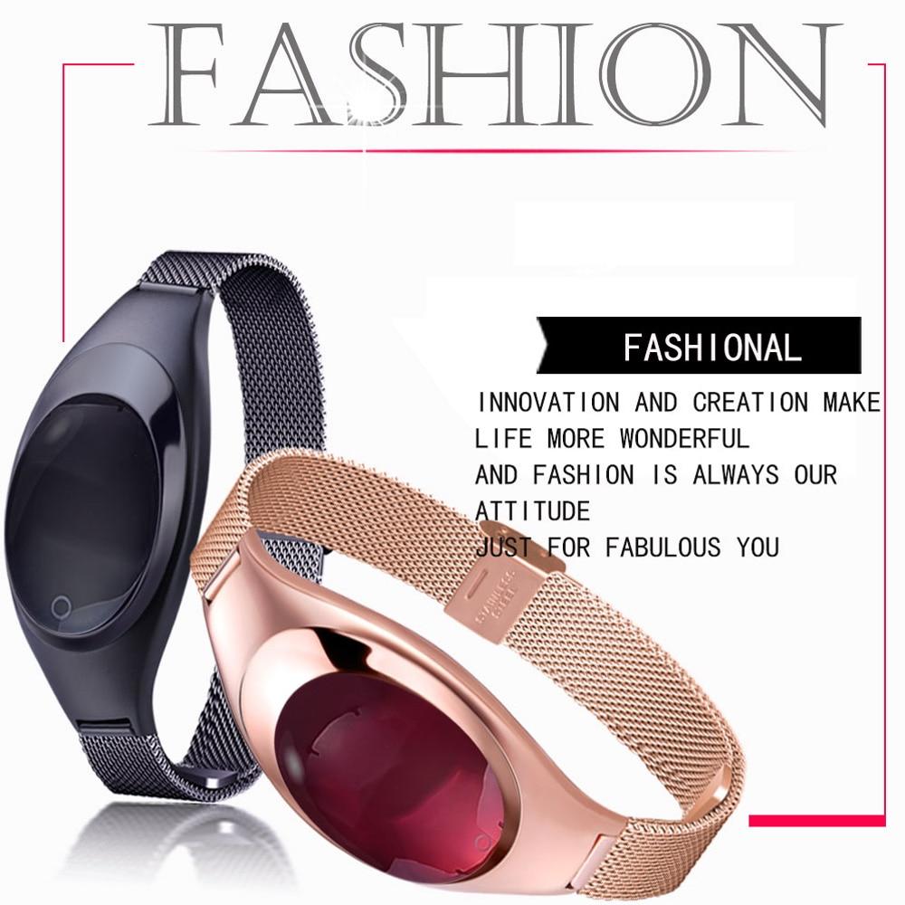 2017 Fashion Heart Rate Tracker Watch Women Sports Smart Bracelet Wristband Healthy Smart Watch Z18 for