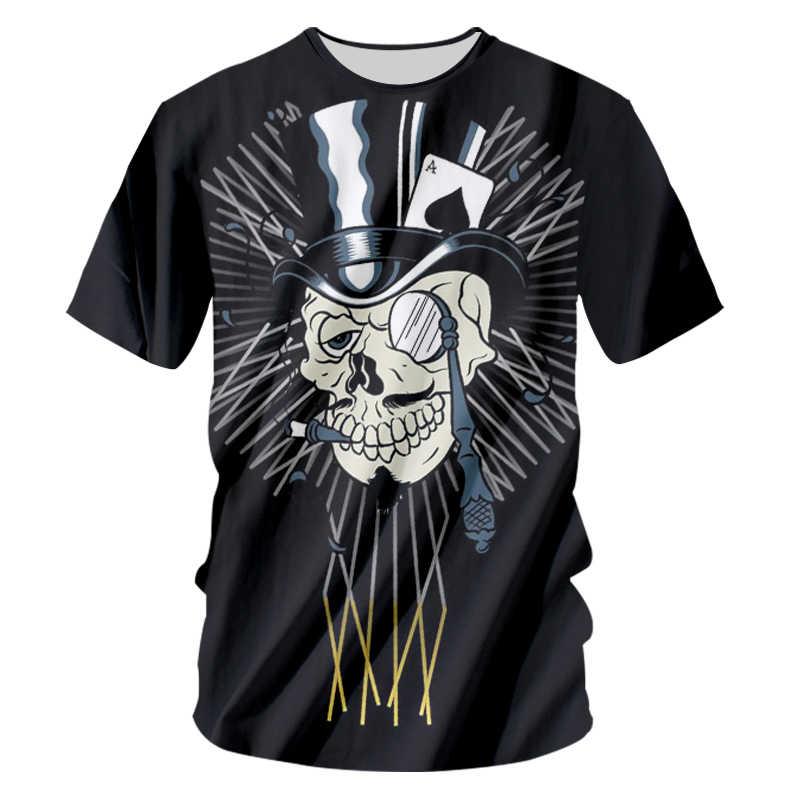 CJLM новый дизайн череп Джокер принт Мужская футболка Мода 3D Футболка короткий рукав Повседневная дышащая футболка Плюс Размер 7XL Прямая поставка