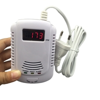 Security Combustible Gas Detector LPG LNG Coal Natural Gas Leak Alarm Sensor With Voice Warning Alarm