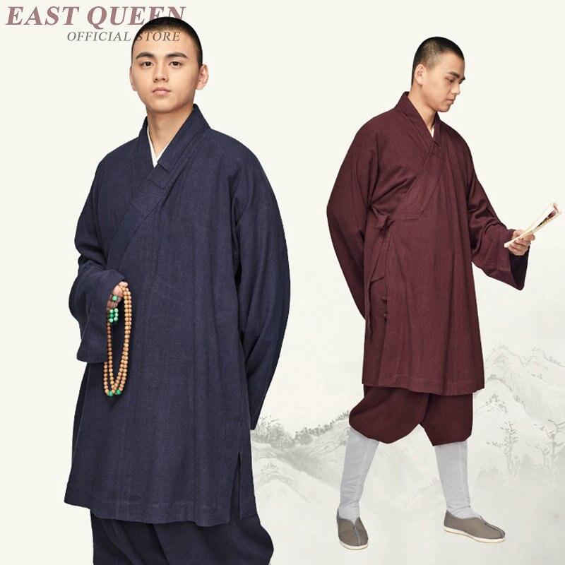 Мужской костюм для одеяния буддийских мохов, мужской костюм шаолина, мантия zen, одежда для медитации, KK2088 Y