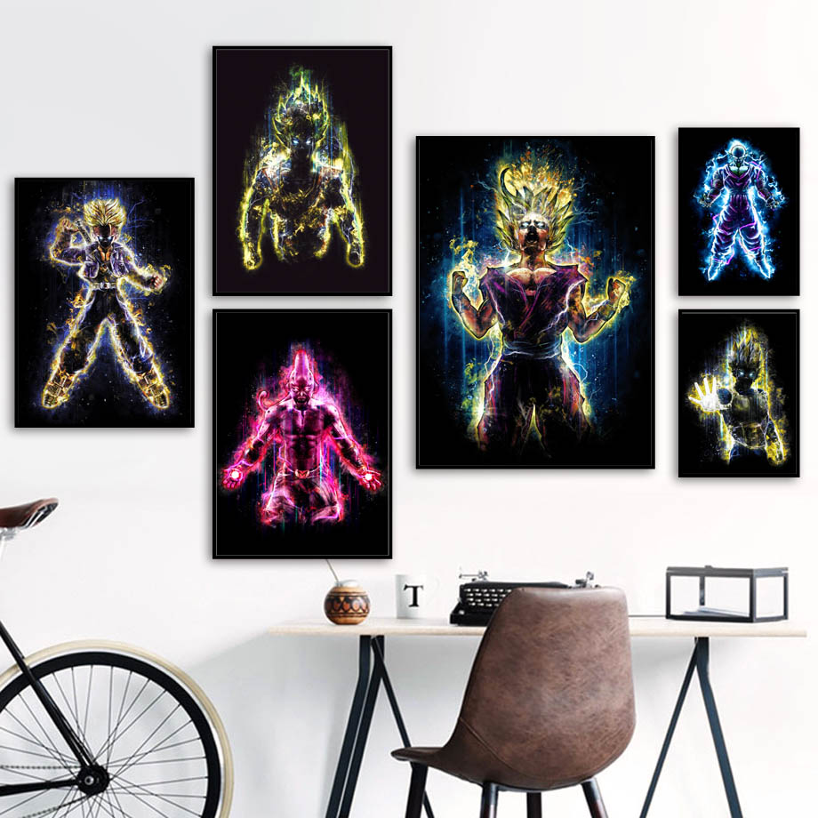 Comic Wall Decor Us 3 3 44 Off Dragon Ball Japanese Comic Wall Art Canvas Painting Cartoon Nordic Posters And Prints Kids Wall Pictures For Living Room Decor In