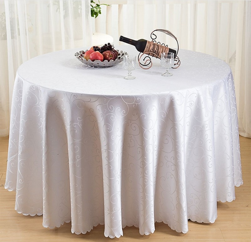 Hot Sale 94 Inch Polyester Round Tablecloths For Wedding Decorations Christmas Table Cloth Covers Nappe Ronde Mariage Obrusy Na