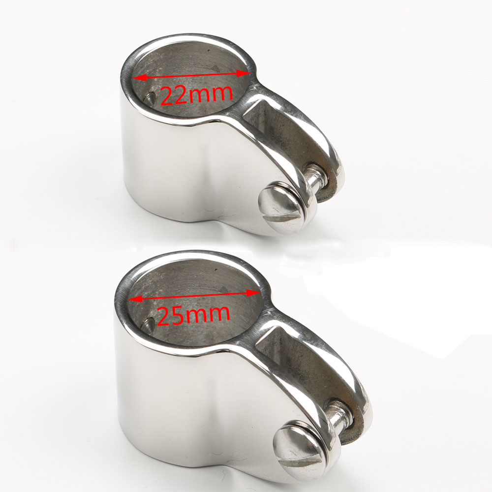 2 Pcs 316 Stainless Steel Slide Sleeve 25mm 1 quot 22 mm 7 8 quot Bimini Top Fitting Hardware Marine Boat Yacht Tube Rail in Pipe Fittings from Home Improvement