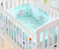 186 * 28cm Cotton Printing Baby Bed Bumper Active Single Chip Anti Collision Cirb Bumper Ledikant Bed Around Bedding 1pcs