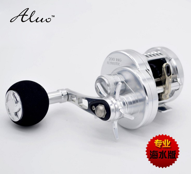 10+1BB High gear ratio 6.2:1 Full Metal Boat Reel Rover Drum Saltwater wheel offshore Casting Surfcasting drum fishing iron reel