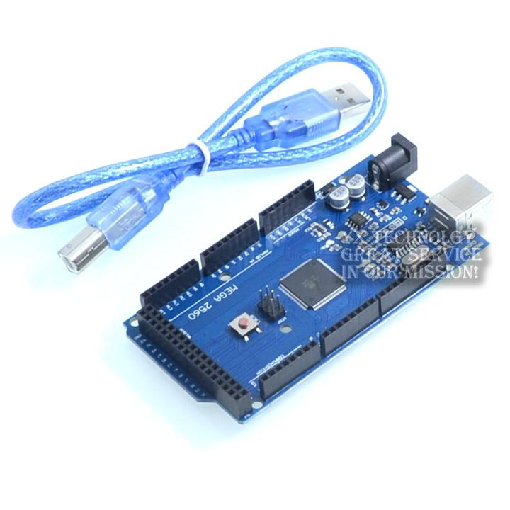 MEGA2560 R3 improved version of the ultra-practical DCCduino+ USB Cable