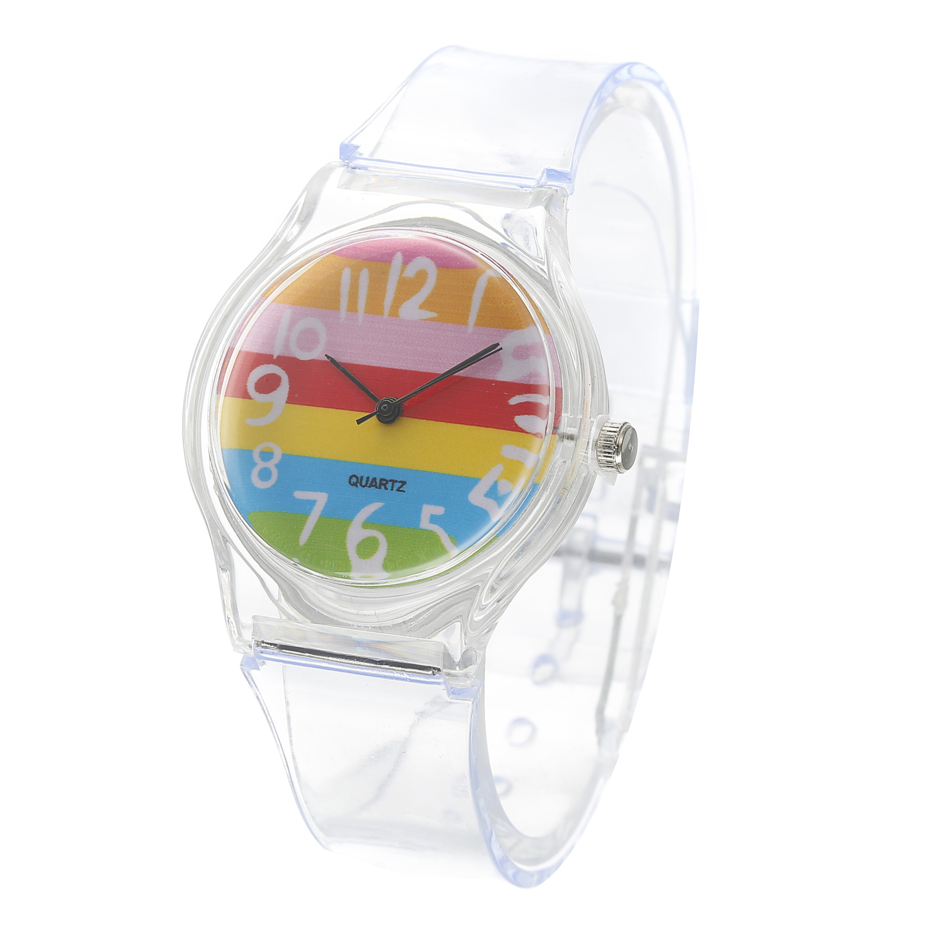 Clear silica gel watch simple mathematics 1 1 pattern student quartz watch Children 39 s wristwatches 1pcs in Children 39 s Watches from Watches