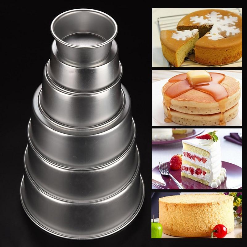 New 4/5/6/8/9/10inch Aluminum Alloy Nonstick Round Cake Pan Baking Mould Pan Bakeware Baking Tools Molde de la torta Hot Sale