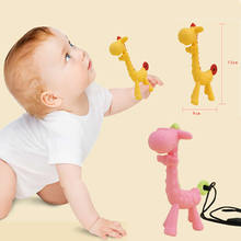 Cartoon Giraffe Shape Baby Teethers Silicone pacifier Infant Teething Toy Necklace Hanging Toy For Baby Silicone Bite Teether-in Baby Teethers from Mother & Kids on expressjinni