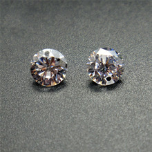 50pcs/lot Cubic Zirconia Stone Beads with Single/Double Hole 4~8mm AAA Grade CZ Zircon For Jewelry Making X7-M2