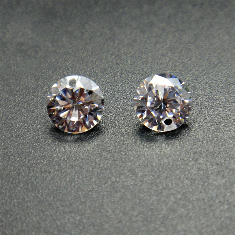 earrings Golden Leopard Head Eyes Green Emerald Pearl Gold Plated CZ G3 93