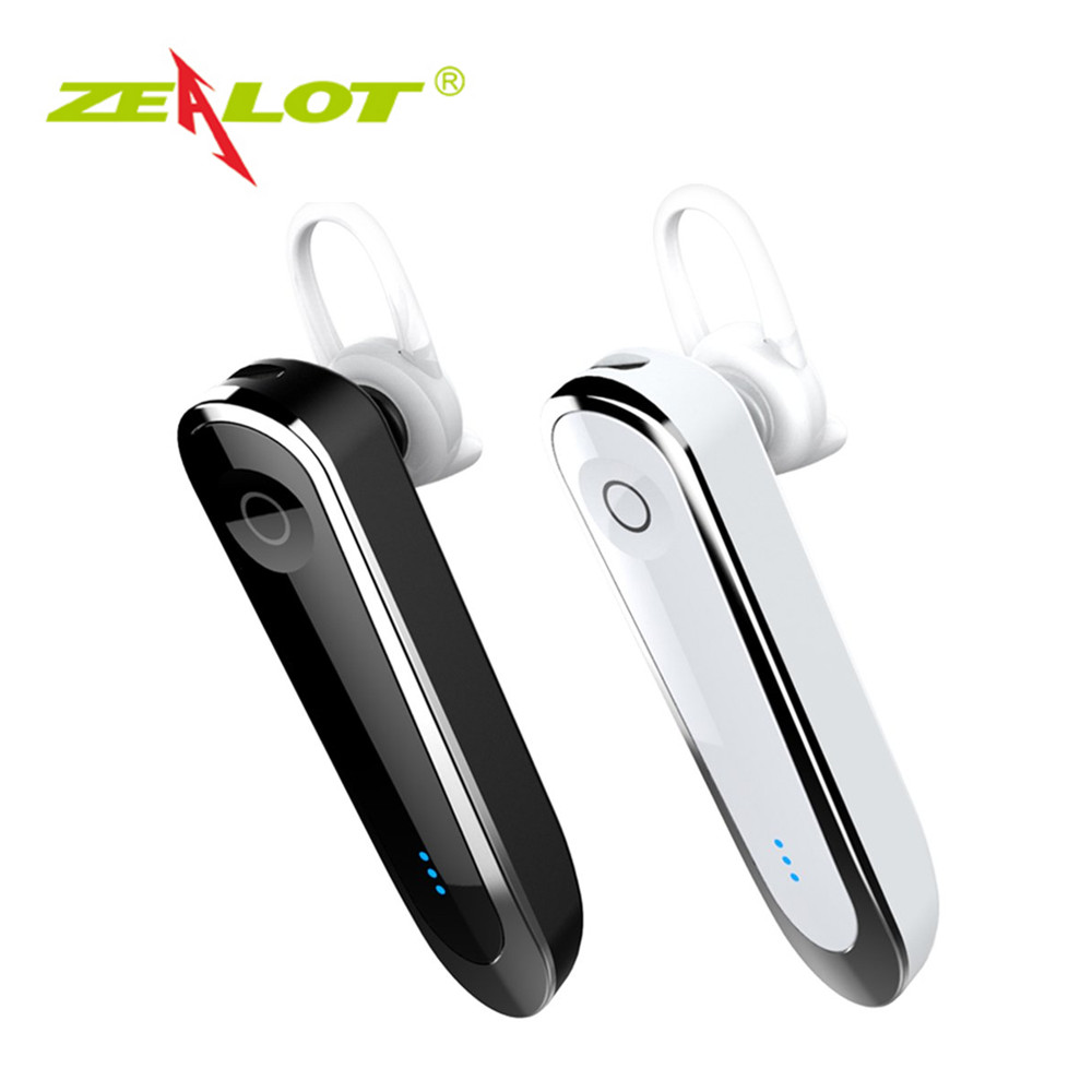 ZEALOT E6 Wireless Headset Car Kit With Dock Stereo Bluetooth Earphone Microphone MP3 Hands-Free Low Noise With Ear Cap car wireless bluetooth 4 1 earphone headset hands free car kit charger audio music receiver with 5v 3 1a dual usb charging dock