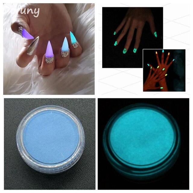 Neon Phosphor Powder Nail Art Coating Powder Dust Luminous Pigment