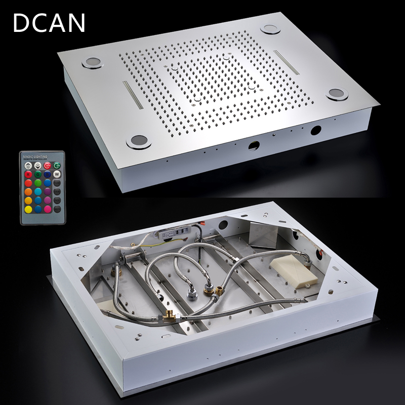 Multi Function Rainfall Shower Heads Led Light Remote Control Shower Head 600800mm Ceiling Rain Shower Waterfall Massage (10)