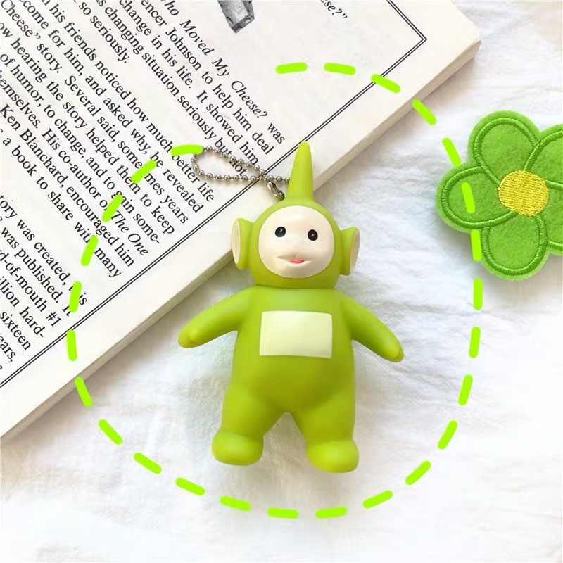 Marca original dos desenhos animados teletubbies boneca para crianças presente de natal chaveiro figura ação quente dos desenhos animados brinquedos
