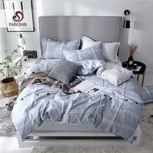 ParkShin Rubber Sheet Set Fitted Geometry Style Elastic Duvet Cover Pillowcase Bedspread Euro Double Queen Size