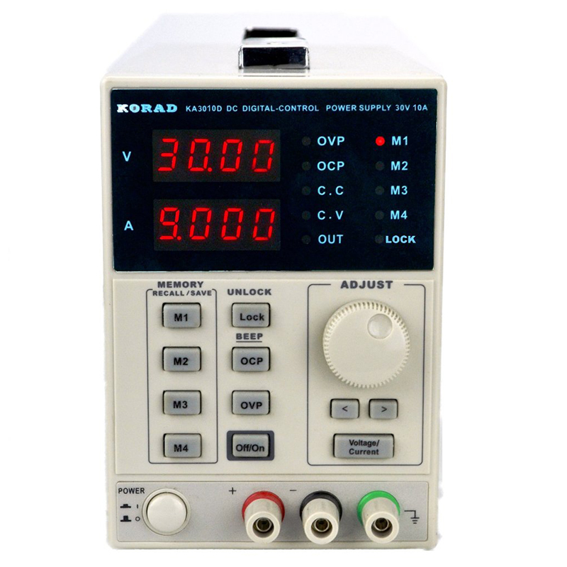 цена на Hot KORAD KA3010D -Precision Variable Adjustable 30V, 10A DC Linear Power Supply Digital Regulated Lab Grade