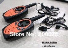 T628 orange 1w  long range pair walkie talkie portable PMR446 cb uhf ham radio transmitter fm for restaurant w/ earphone