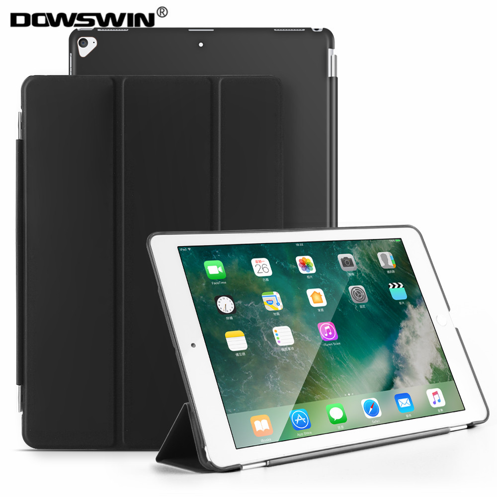 For iPad Pro 12.9 Case 2015/2017 DOWSWIN PU Magnetic Auto Sleep With PC Back Cover For iPad Pro 12.9 Inch Stand Cover Coque lichee pattern protective pu leather case stand w auto sleep cover for google nexus 7 ii white