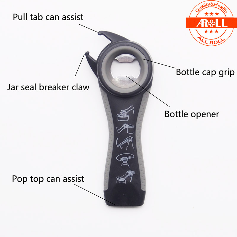 bc3790cc73d8 5 in 1 Multi Kitchen Tool Bottle Jar Opener Stainless Steel Can Opener  Multifunction Opener Beer Manual Can Opener Side Cut-in Openers from Home &  ...