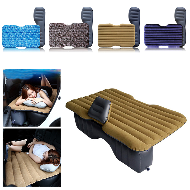 2018 Hot Sale Car Air Bed Inflatable Mattress Back Seat Cushion + 2 Pillows For Travel Camping HWC betos car air mattress travel bed auto back seat cover inflatable mattress air bed good quality inflatable car bed for camping