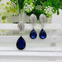 2014 fashion bijoux for women lady teardrop water drop bib collar statement necklace pendants earrin