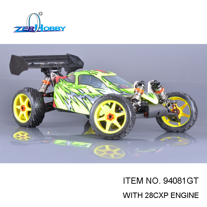 2PCS LOT RC CAR TOYS HSP PROFESSIONAL BAZOOKA 1/8 NITRO POWERED 4X4 OFF ROAD REMOTE CONTROL TW SH28 ENGINE (ITEM NO. 94081GT)