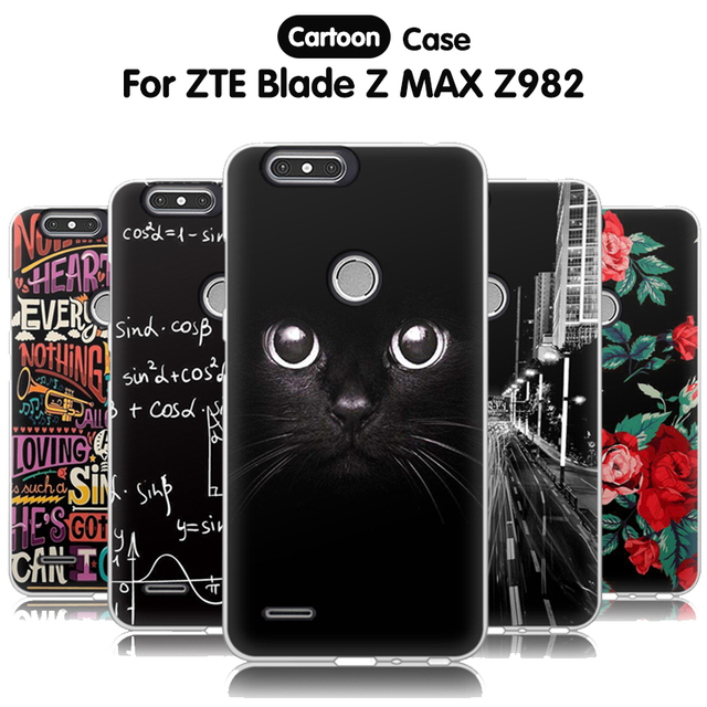 on sale 8f17c 640ff US $1.61 49% OFF|EiiMoo Soft Silicone Case For ZTE Blade Z Max Case Z982  TPU Cartoon Relief Back Cover For ZTE Blade Z Max Pro 2 / Sequoia Case-in  ...
