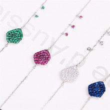 цены Fashion Irregular Shaped 925 Sterling Silver Pendant Bracelet Jewelry Bracelet Design For Women Fine Jewelry