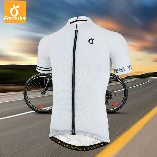 2018 New Men's Cycling Jersey Short Sleeve Mesh Breathable Bike Bicycle Shirt Black White Quick dry Climber Cycling Clothing28.