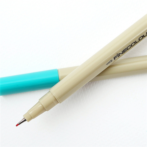 Image 3 - Finecolour Esboço EF300 Forro Colorido 0.3mm 48 Cores de Boa Qualidade da Mão Pintado Agulha Marcadores Da Arte Caneta com Plástico caso