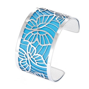 Image 4 - Cremo Butterfly Bracelets Stainless Steel Bangles Argent Femme Manchette Interchangeable Leather Pulseiras