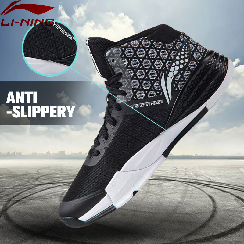Li-Ning Men's STORM On Door Basketball Shoes LiNing Cushioning Sneakers Sports Shoes  Cloud Breathable ABFM005 XYL108 li ning men s fission iii wade professional basketball shoes lining cloud sneakers breathable sports shoes abam025 xyl109