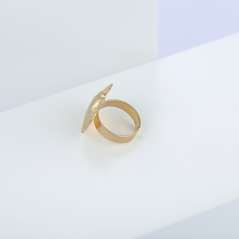 YMYW New Trendy Brand Metal Shell Open Ring Minimalist Gold Silver Vintage Accessories Fashion Jewelry Women Beach Party Gift in Rings from Jewelry Accessories