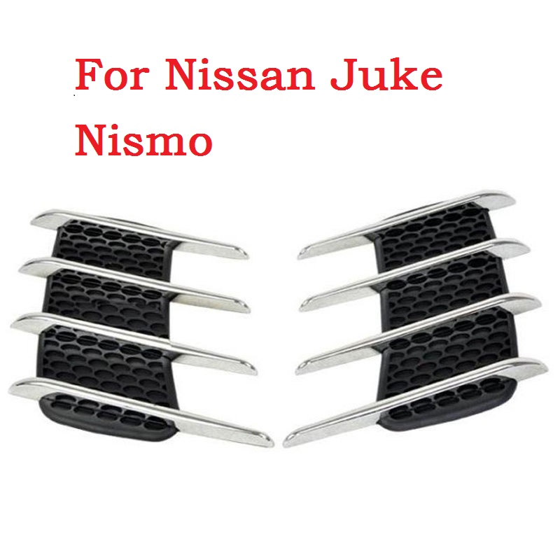 2017 New New Car Shark Gills Exterior Decor Side Air Intake Vent Air Flow Grille Vent Outlet New Styling For Nissan Juke Nismo epr car styling for nissan z33 350z nismo carbon fiber front bumper duct air intake