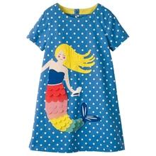 Κορίτσια Καλοκαιρινά Φορέματα με Ζωική Εφαρμογή 2018 Μάρκα Παιδικά Ρούχα Κορίτσια Πριγκίπισσα Κόμμα Παιδικά ρούχα Φόρεμα Για Ηλικία 2-10 ετών